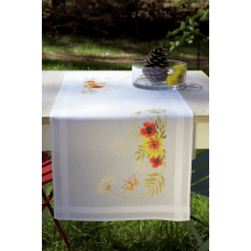 Embroidery Kit: Runner: Sunflowers and Poppies