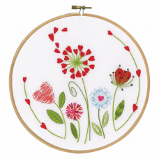 Embroidery Kit with Ring: Flowers