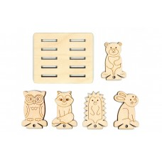 Floss Spools & Holder - Cute Animals  x 10