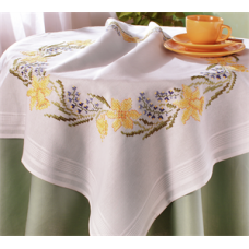 Stamped Tablecloth Kits - Daffodils
