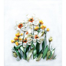 Daffodils And Buttercups Ribbon Embroidery