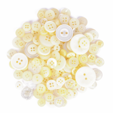 Bag of Craft Buttons: Assorted Cream: 60g