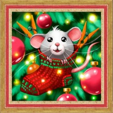 Mouse and Christmas Stocking