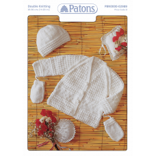 Patons Pattern Leaflet: DK Baby Jacket, Hat, Mitts
