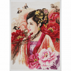 Diamond Painting Kit: Asian Lady in Pink