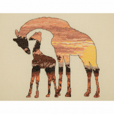 Maia Collection: Giraffes Silhouette