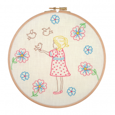Embroidery Hoop Kit: Feeding the Birds