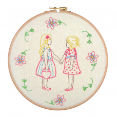Embroidery Hoop Kit: Friends for Ever