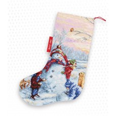 Building a Snowman Stocking
