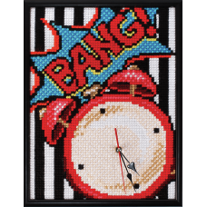 Cross Stitch Kit: Clockwork: Pop Art