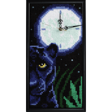 Cross Stitch Kit: Clockwork: Panthers Look