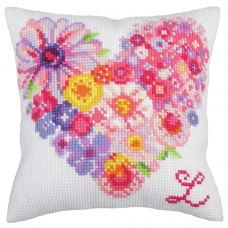 Cross Stitch Kit: Cushion: For You 2