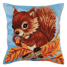 Cross Stitch Kit: Cushion: Squirrel with a Nut
