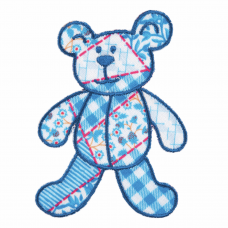 Blue Patchwork Bear