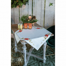 Tablecloth: Christmas Flowers