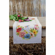 Table Runner: Colourful Flowers