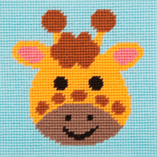 Cross Stitch Kit: 1st Kit: Best Friends: Curious Giraffe