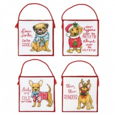 Ornament Set: Christmas Pups