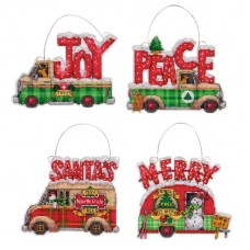 Ornament Set: Holiday Truck
