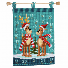 Wall Hanging: Elk with Scarves