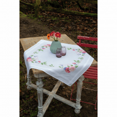 Embroidery Kit: Tablecloth: Flowers & Butterflies