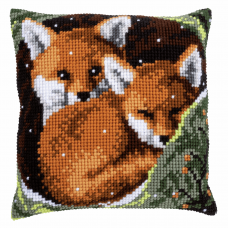 Printed Cross Stitch Kit: Foxes