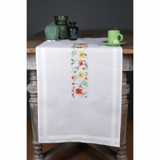 Embroidery Kit: Runner: Fresh Flowers