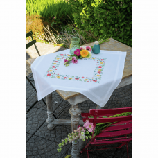 Embroidery Kit: Tablecloth: Fresh Flowers