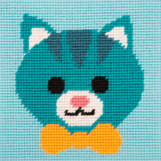 Cross Stitch Kit: 1st Kit: Best Friends: Friendly Cat