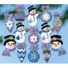 Frosty Fun Ornaments Christmas Felt Kit