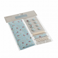 Cotton Craft Set with Fabric: Blue Ditsy