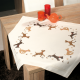 Embroidery Kit: Tablecloth: Playful Dogs