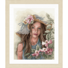 Little Girl with Hat (Evenweave)