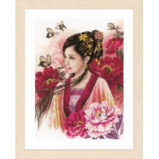 Asian Lady in Pink (Evenweave)