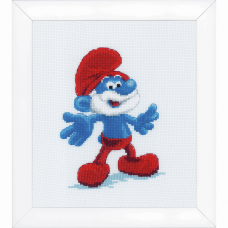 Counted Cross Stitch Kit: The Smurfs: Papa
