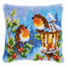Latch Hook Kit: Robins with Christmas