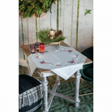 Tablecloth: Winter Christmas Landscape