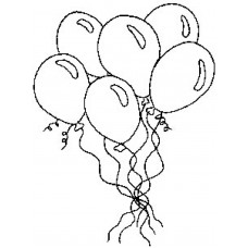 Bunch of Balloons - Wood Mounted Stamp