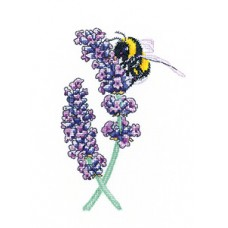 Lavender Bee (Evenweave)