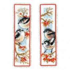 Bookmark: Long-Tailed Tits & Red Berries: Set of 2