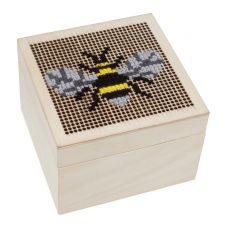 Cross Stitch Trinket Box: Small