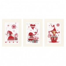 Greeting Cards: Christmas Gnomes: Set of 3