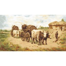 Cart with Oxen