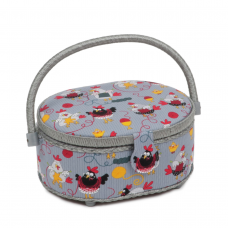 Classic Collection: Sewing Box (S): Oval: Chicken Stitch