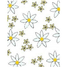Daisy Background - Wood mounted stamp