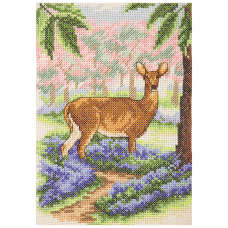 Cross Stitch Kit: Deer Suppers: Tablecloth