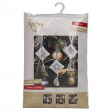 Counted Cross Stitch Kits: Christmas Decorations: Stars: Ice Blue