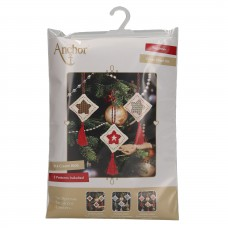 Counted Cross Stitch Kits: Christmas Decorations: Stars: Green/Red