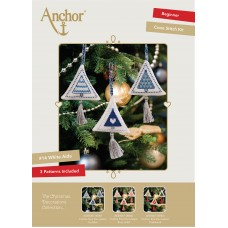 Counted Cross Stitch Kits: Christmas Decorations: Trees: Ice Blue