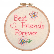 Embroidery Hoop Kit: Best Friends for Ever